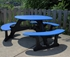 Recycled Plastic Round Picnic Table - Portable