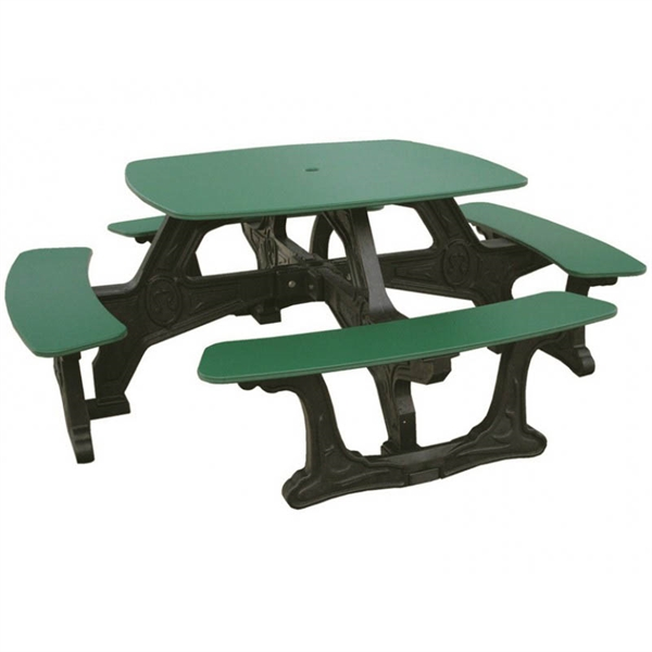 square recycled plastic picnic table portable by park tables. Black Bedroom Furniture Sets. Home Design Ideas