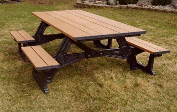 8 Ft Recycled Plastic Picnic Table Wheelchair