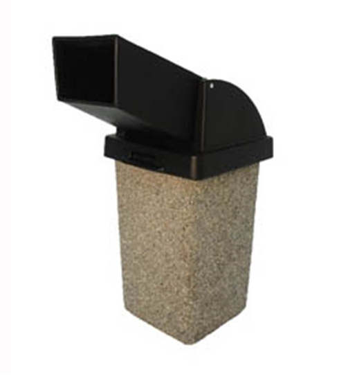 Picture of 30 Gallon Concrete Trash Can with Drive-Up Top - Portable