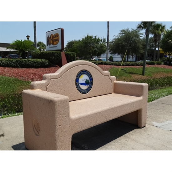Picture of 7 Ft. Concrete Custom Memorial Bench