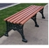 Picture of 80 inch Renaissance Bench without Back - Wooden Slats and Metal Frame - Portable