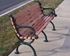 Picture of 80 inch Ft. Victorian Contour Bench - Oak Wooden Slats - Cast Aluminum Frame - Portable