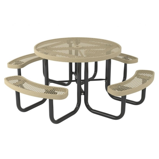 Picture of Round Thermoplastic Steel Picnic Table - Quick Ship - Portable