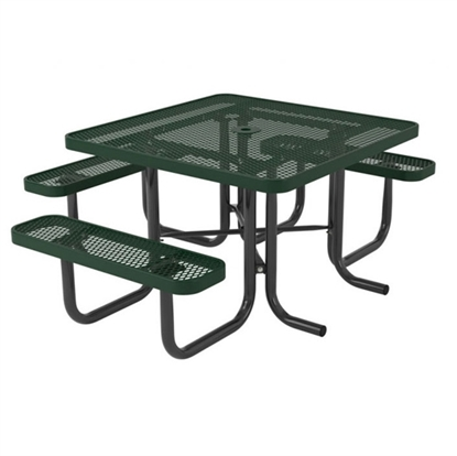 Square Thermoplastic Picnic Table - 3 Seats