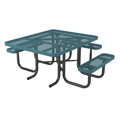Picture of ADA Square Thermoplastic Picnic Table - Ultra Leisure Style  - Portable
