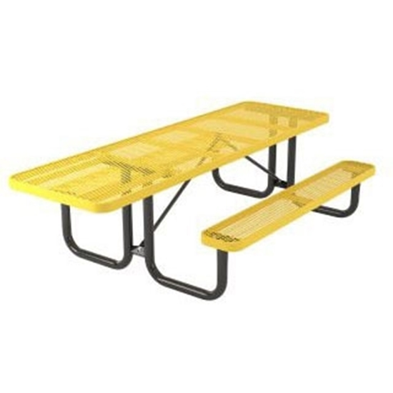 ADA Rectangular 6 ft. Thermoplastic Steel Picnic Table - Ultra Leisure Style