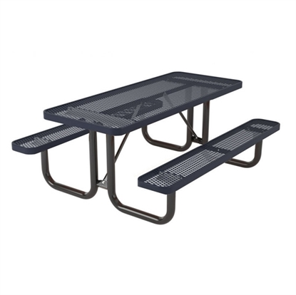 Rectangular 8 foot Thermoplastic Steel Picnic Table - Ultra Leisure Style