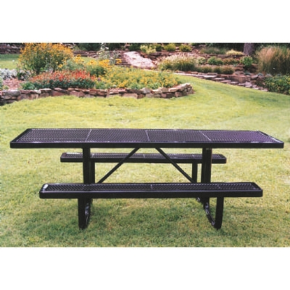 Picture of ADA Rectangular 8 ft. Thermoplastic Steel Picnic Table - Quick Ship - Ultra Leisure - Portable