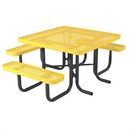 Picture of Wheelchair Accessible 3 Seat Thermoplastic Picnic Table - Ultra Leisure Style - Portable