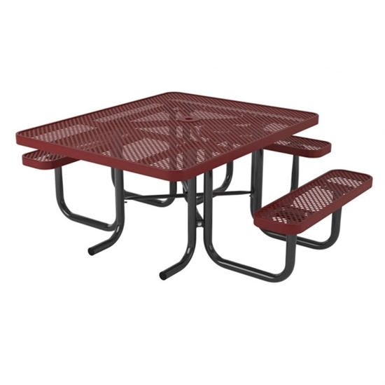 ADA Square Thermoplastic Picnic Table - Perforated Style
