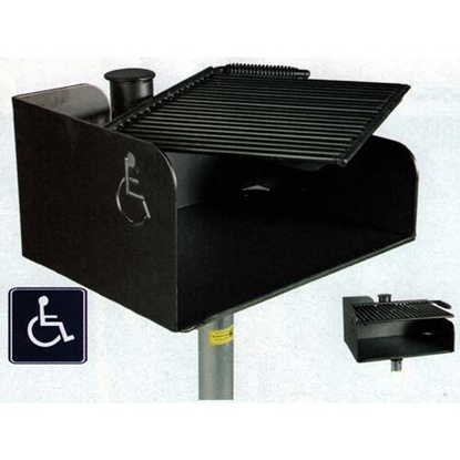 Picture of ADA Flip Grate Park Grill - 300 sq. inch Cooking Surface - Inground Mount