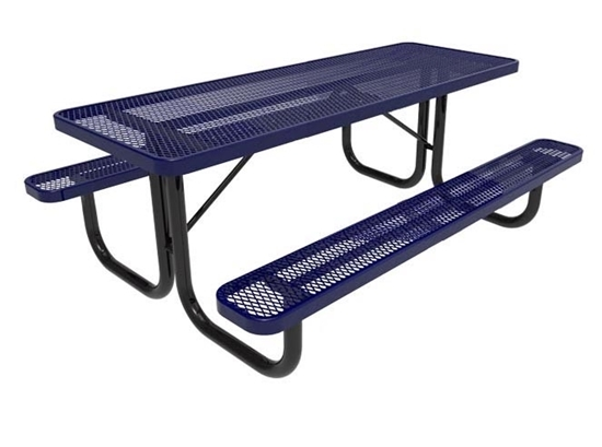 RHINO 8 Foot Thermoplastic Steel Picnic Table