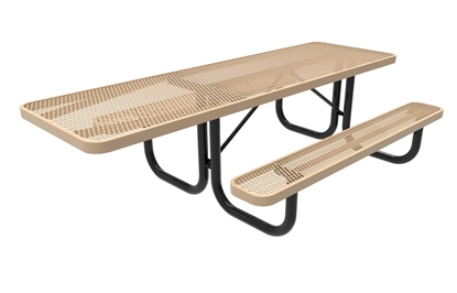 ADA RHINO 8 Foot Rectangular Thermoplastic Steel Picnic Table