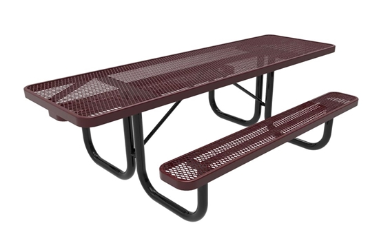 ADA RHINO 8 Foot Rectangular Thermoplastic Steel Picnic Table Dual Access