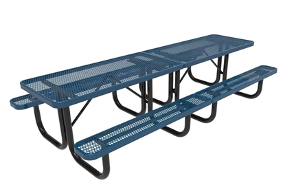 Rectangular picnic tables metal wood concrete for 10 ft picnic table