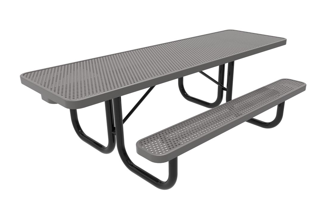 Metal Picnic Tables : Rhino double ada foot rectangular thermoplastic steel