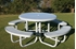 RHINO Solid Top Picnic Table with Perforated Seats
