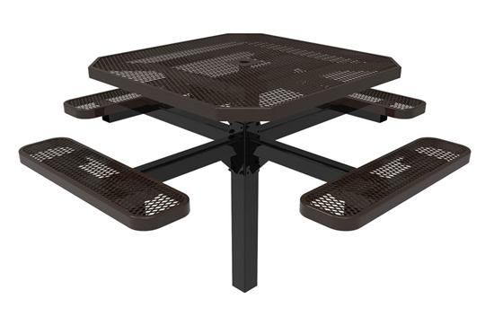 Octagonal Pedestal Picnic Table RHINO