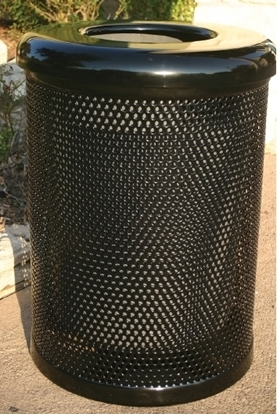 32 Gallon Perforated Trash Can with Flat Top