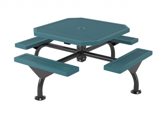 46 inch Octagonal Web Style Innovated Picnic Table - Portable or Surface Mount
