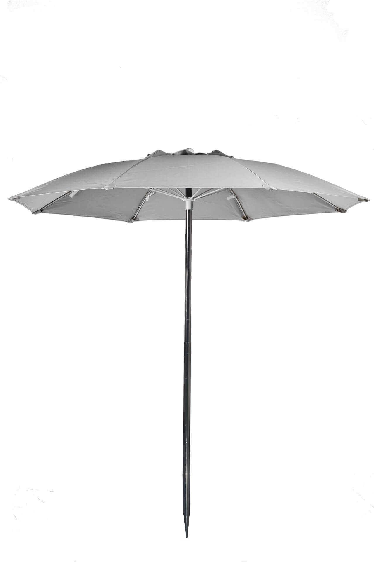 7 Ft Beach Fiberglass Umbrella Marine Grade Canopy on Turquoise Outdoor Patio Furniture