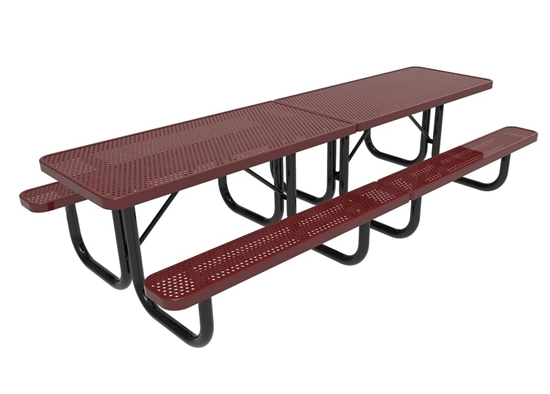 Perforated Metal Thermoplastic Picnic Table