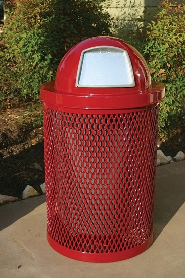 32 Gallon Thermoplastic Trash Receptacle with Dome Top