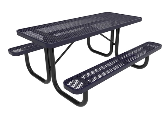 ELITE Series 6 Foot Thermoplastic Steel Picnic Table