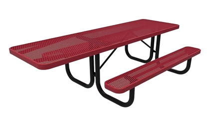ADA ELITE Series 8 Foot Rectangular Thermoplastic Steel Picnic Table
