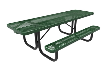 ADA ELITE Series 8 Foot Rectangular Thermoplastic Steel Picnic Table Dual Access