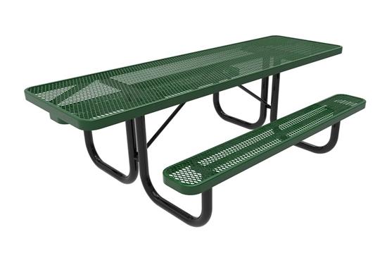 ADA ELITE Series 8 Foot Rectangular Thermoplastic Steel Picnic Table Dual Access