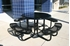 ELITE Series Solid Top Picnic Table with Expanded Metal Seats