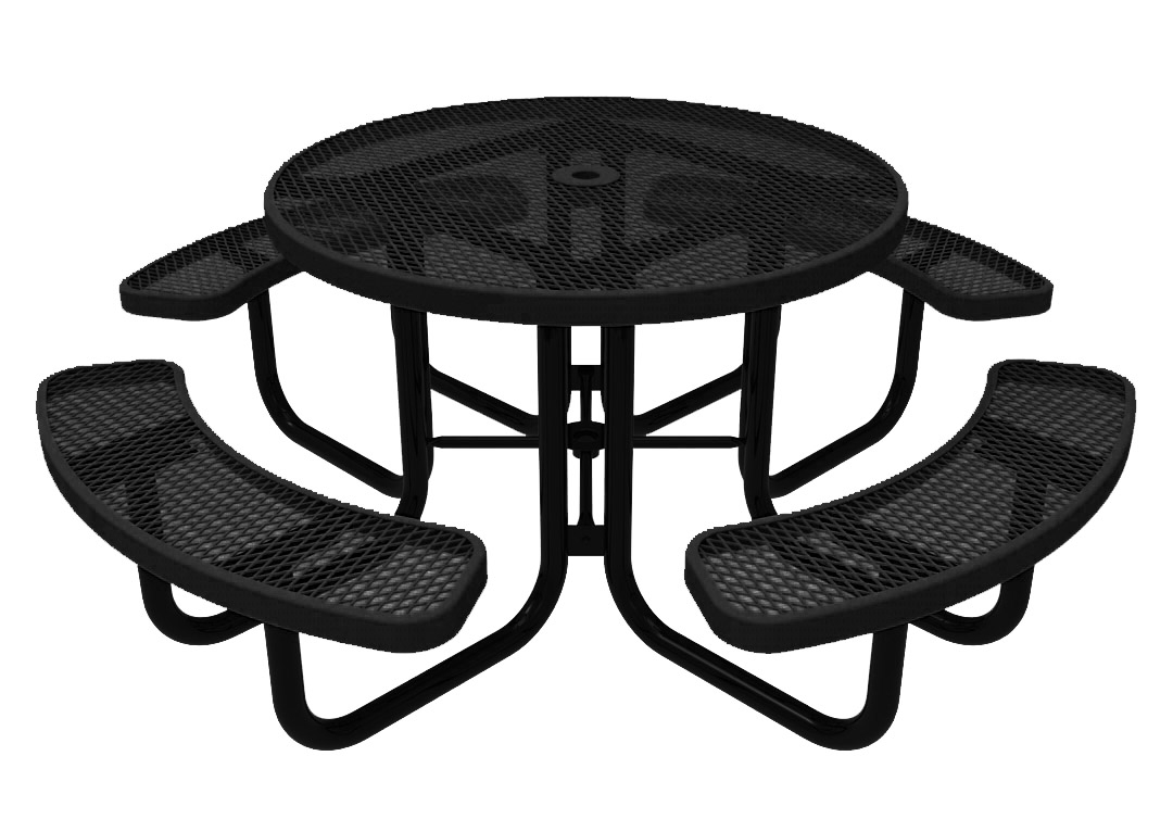 ELITE Series Round Thermoplastic Steel Picnic Table