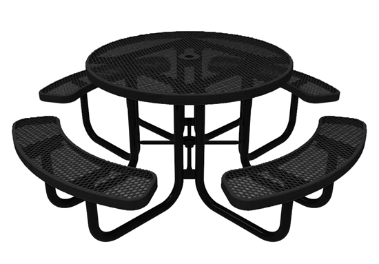ELITE Series Round Picnic Table - Thermoplastic Expanded Metal