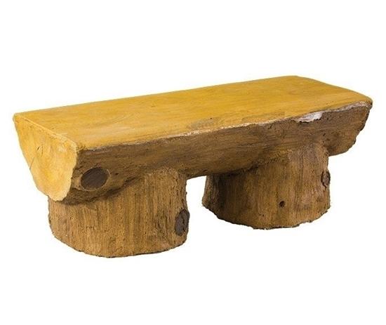 4 Ft Concrete Log Design Bench Without Back
