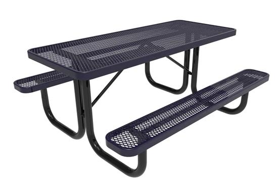 ELITE Series 4 Foot Thermoplastic Steel Picnic Table