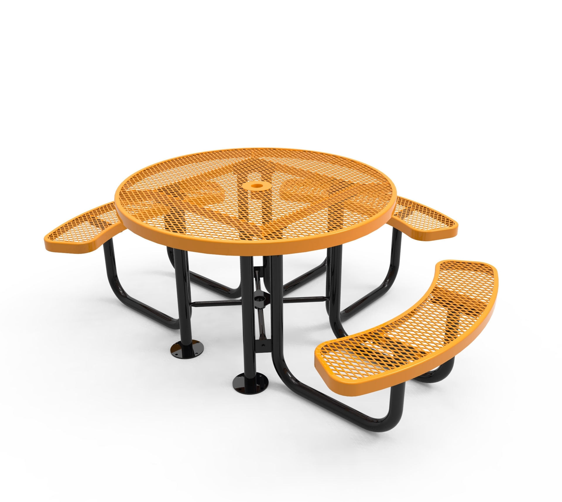 RHINO ADA Round Picnic Table For Universal Access