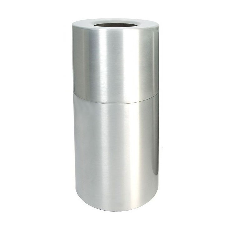 Round 35 Gallon Trash Can Heavy Gauge Aluminum with Flat Top
