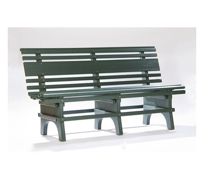 St. Pete Bench 4 or 5 Foot, Recycled Plastic, Surface Mount