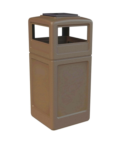 42 Gallon Trash Can with Dome Top and Ash Tray Lid