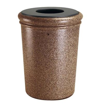 50 Gal Fiberglass Trash Can - Reinforced Polymer Concrete