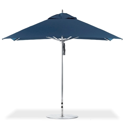 10 ft. Square Aluminum Center Post Premium Umbrella