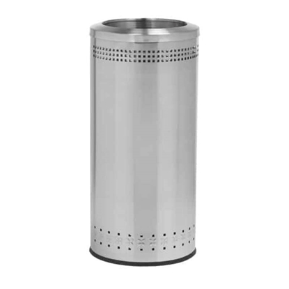 Powder Coated Steel Trash Can with Open Top