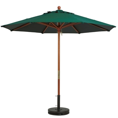7 ft. Market Umbrella Octagon with Two-Piece Wood Pole