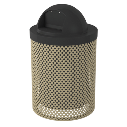 32 Gallon Perforated Trash Receptacle