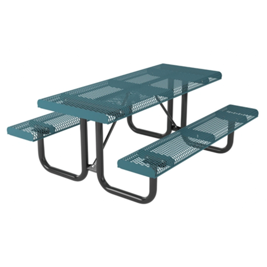 6 ft Rectangular Thermoplastic Steel Picnic Table