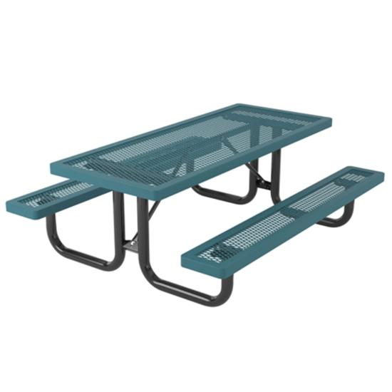 6 ft. Children's Rectangular Thermoplastic Steel Picnic Table - Regal Style