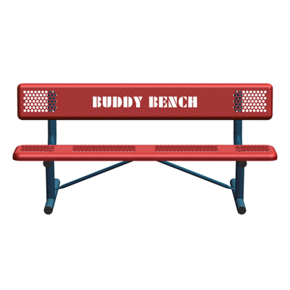 6 Ft. Perforated Steel Buddy Bench
