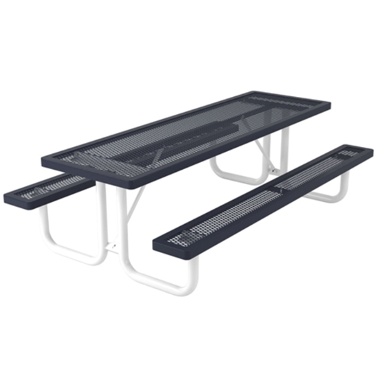 8 ft Rectangular Thermoplastic Steel Picnic Table